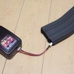 リコイルトレポンのマガジン内バッテリーを充電しやすくする為に、リポ延長コネクターを買ってきました