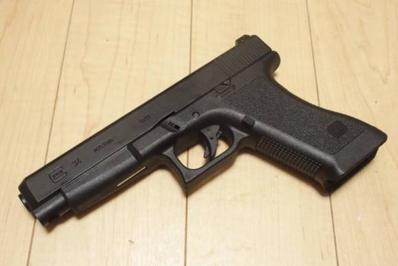 GUARDERから発売された東京マルイ製Glockシリーズ用 GEN2フレームを、Glock34に付けてみた