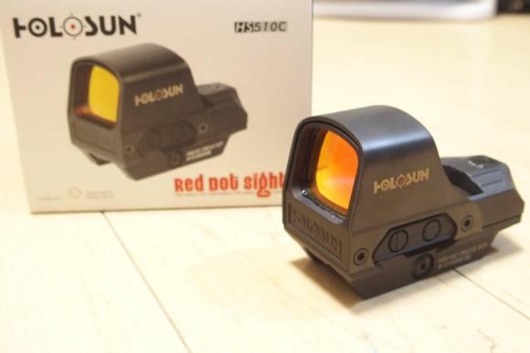 実銃対応リフレックスドットサイト、HOLOSUN HS510Cのレビュー