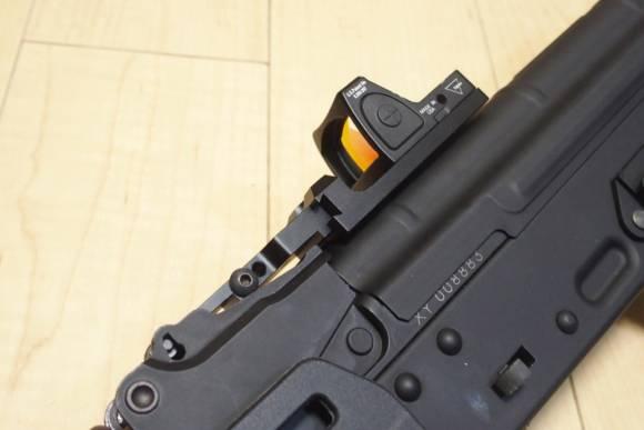 KSC AK74 ERGの外装カスタム(Part2) OPT Crews製 AK用 RMRマウントを取り付けてみた