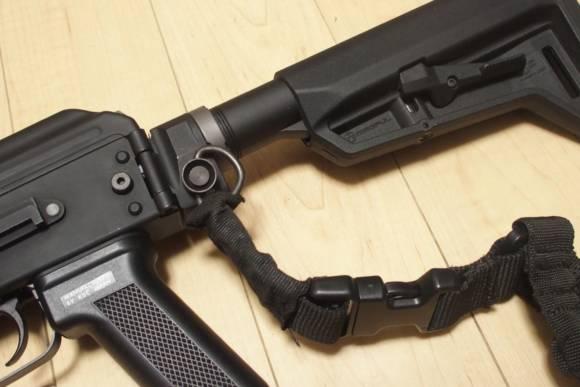 KSC AK74 ERGの外装カスタム(Part3) ストックをM4タイプに交換し、YHM Phantomタイプ フラッシュハイダーを取り付けてみた