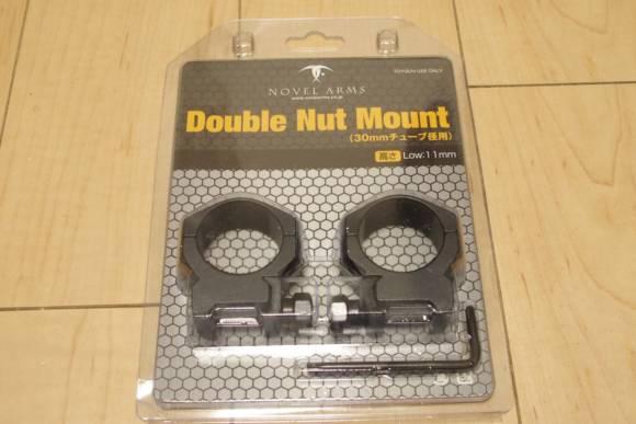 NOVEL ARMS製 30mmチューブ用マウントリング、ダブル ナット マウント LOW(11mm)を買いました
