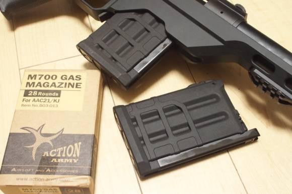 ActionArmy製 M700用ガスマガジン For AAC21/KJをKingArms MTD LSSで使う為に買ってみた