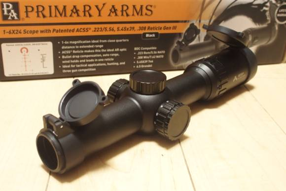 PRIMARY ARMS製ショートスコープ 1-6×24 Scope with Patented ACSS Reticle GEN3のレビュー