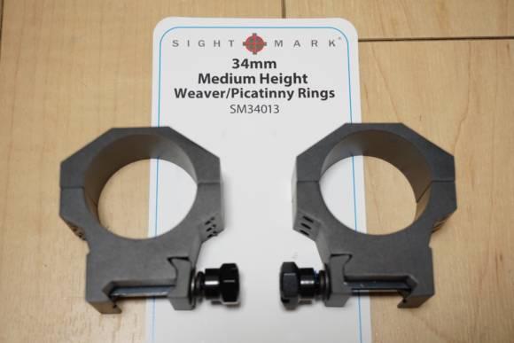 SIGHT MARK 34mm ミディアムハイ マウントリング(SM34013)を買ったので、MDT LSSに付けました(要加工)