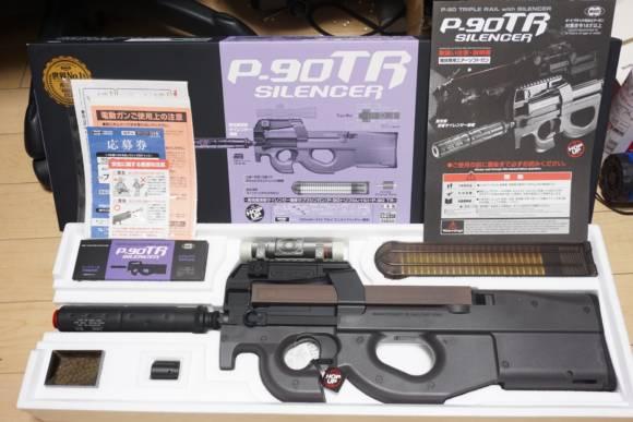 東京マルイ製通常電動ガン、P-90 TRIPLE RAIL with SILENCERを購入しました