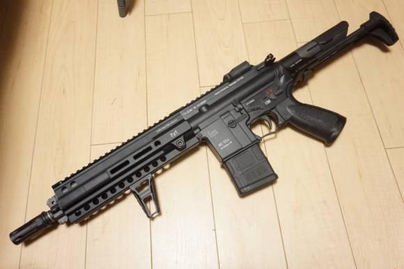 A&K STW HK416D(チャイポン)にバリューキット3とSYSTEMA純正検知基盤用 円形マイクロFET基盤を組み込んでいきます
