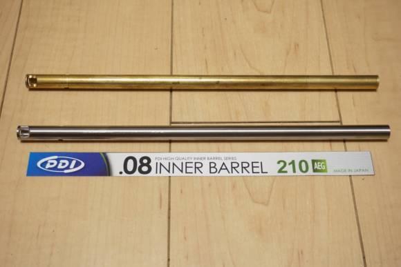 PDI製 電動ガン用インナーバレル 内径6.08mmのレビュー(東京マルイ純正バレルとの比較)