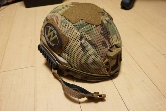 実物ヘルメット TEAM WENDY EXFIL LTP CBと、メッシュヘルメットカバー(マルチカム)を購入しました