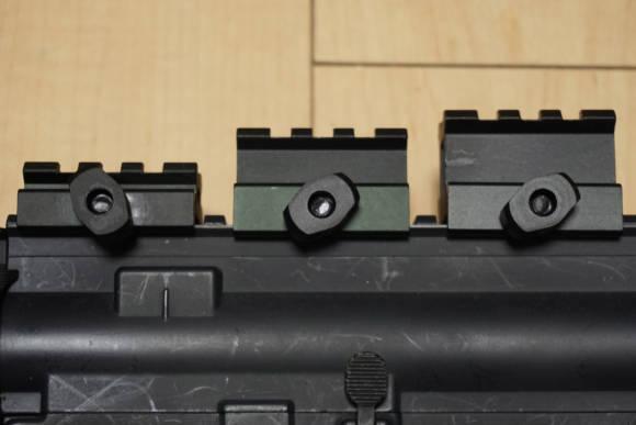 Vector Optics製20mmレイル用ライザーマウント(ハイ/ミドル/ロー)のレビュー