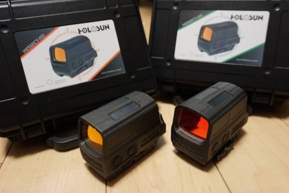 フルチタン箱型ドットサイト、HOLOSUN HE512CTシリーズ(レッドドット、グリーンドット)のレビュー