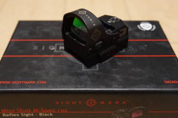 クリアなレンズと耐衝撃性・耐水性を備えたリフレックスサイト、Sightmark Mini Shot M-Spec FMSのレビュー